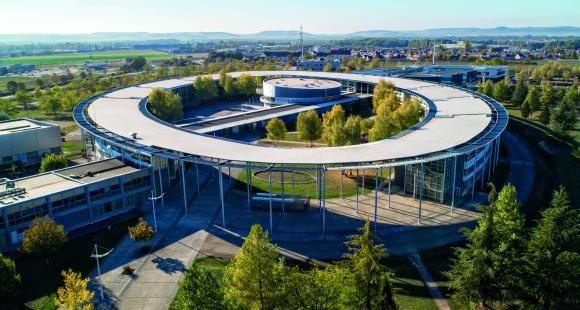 Vue aérienne de l'Université de Technologie de Troyes - Copyright Conseil Départemental de l'Aube